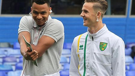 Josh Murphy, left, and James Maddison were first-team substitutes in the loss at Birmingham on Satur