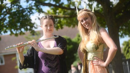 Wymondham victory picnic. Pictured are (L) Stephanie Wickmere and Daisy Plackett. Picture: Ian Burt