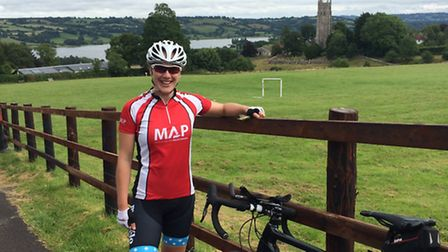 Rahma Barclay, who is cycling from London to Jerusalem for charity. Submitted