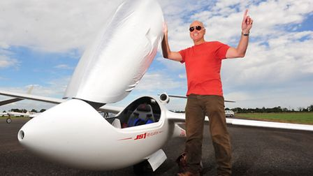 Norfolk Glider Club,Tibenham held a competion for gliders from across Europe. Gliding champion Andy