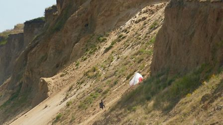 A warning has been issued against climbing on the cliffs at West Runton. Picture: WESTRUNTONCAFE/FAC