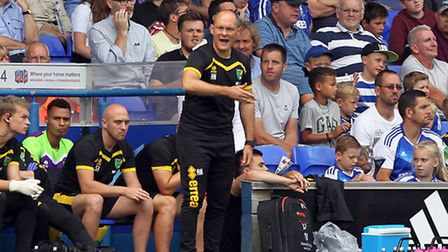 Norwich City manager Alex Neil cut a frustrated figure at times at Portman Road, Picture by Paul Che