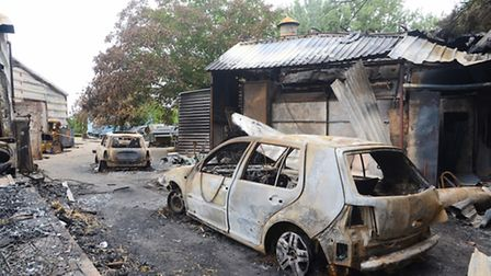 The family home of Alex and Faye Morse in Shipdham was destroyed by fire. Picture: Ian Burt