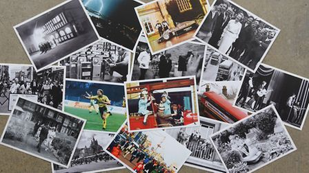 Some of the selection of postcards from the 40s, 50s, 60s, 70s, 80s and 90s for the Eastern Daily Pr