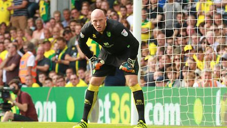 John Ruddy has been ruled out of Norwich City's Championship game against Bristol City. Picture by S