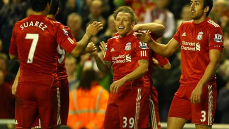 Craig Bellamy scored against Norwich for Liverpool at Anfield in 2011. Picture by Paul Chesterton/Fo