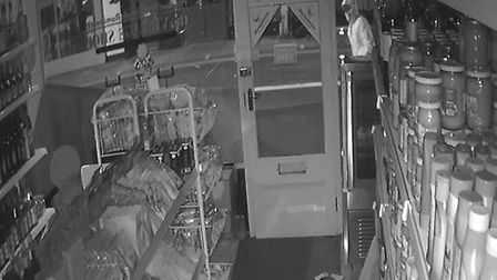 CCTV footage from the night of the arson attack on The Village Shop.