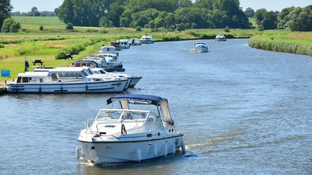 Boats on the River Bure at Acle during a heatwave in July.Picture: James Bass