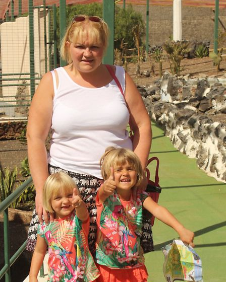 Claire Taylor with her daughters Maisie, left and Shannon. Picture: SUBMITTED