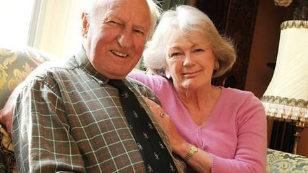 Motor Racing legend Jack Sears pictured with his wife Diana at their home in Ashill.PHOTO: IAN BURTC