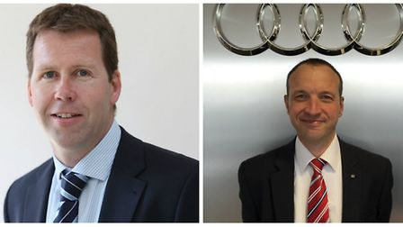 Howes Percival's Gordon Simpson and Paul Moore of King's Lynn Audi.