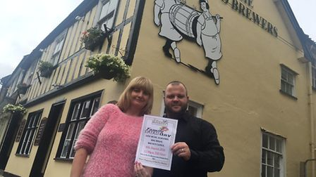 Kim and Simon Musk from the Two Brewers and planning to host a family fun day. Picture: STUART ANDER
