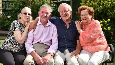 Twins Malcolm and Alan Lemmon celebrate their 60th wedding anniversaries just weeks apart. Alan, lef