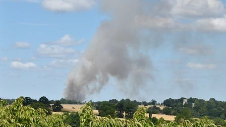 Large fire in Bedingfield. Image: @countrymousie via Twitter