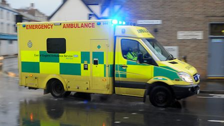 A man was taken to hospital following a road accident in Sprowston.