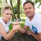 Becky Browse and her husband Paul won the World Thumb Wrestling Championship The Locks Inn, Geldesto