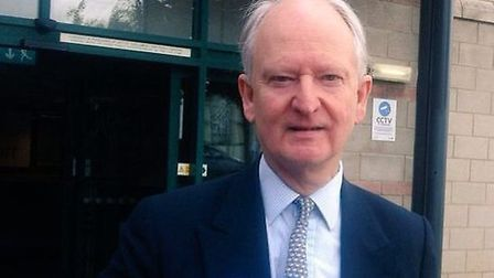 MP Sir Henry Bellingham outside the Heacham planning inquiry