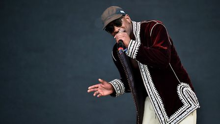Future Voices: Skepta performing on the Pyramid Stage at this year's Glastonbury Festival. Photo: Be