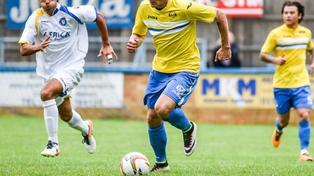 Will Jacek Zielonka get the chance to be on the ball for the Linnets today? Picture: MATTHEW USHER