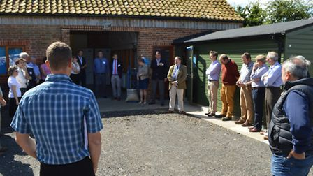 Opening of the new Solana Seeds office and lab at Stody Hall Barns, August 2016