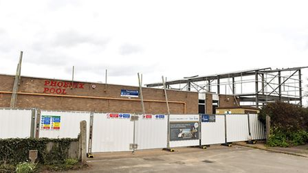 Construction work on the Phoenix Pool site in Bradwell. April 2016.Picture: James Bass