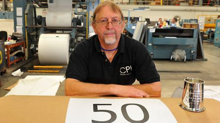 Roger Moore has been working at William Clowes printing works for 50 years. PHOTO: Nick Butcher.