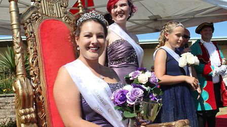 Sheringham carnival's royal party on The Leas clifftop gardens. Picture: KAREN BETHELL