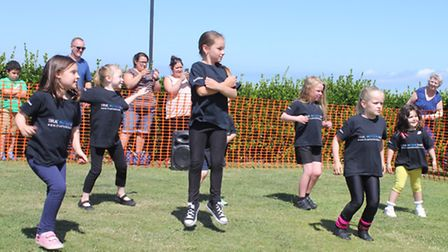 True Motion Dance members entertaining the crowds at Sheringham carnival crowning day. Picture: KARE