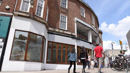 The former Pizza Hut restaurant on Orford Place, Norwich., which could become a Five Guys. Photo : S