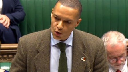Clive Lewis speaks in the House of Commons in London. Picture: PA Wire