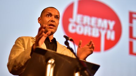 Clive Lewis speaking at Jeremy Corbyn's leadership rally at Open in Norwich. Picture: ANTONY KELLY