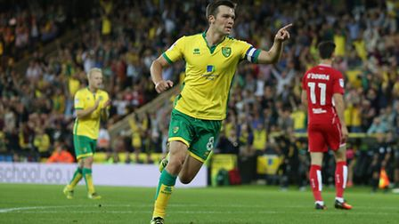 Jonny Howson opened the scoring for Norwich City against Bristol City. Picture by Paul Chesterton/Fo