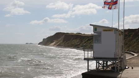 RNLI watch tower at West Runton where the coast has unearthed secrets to our past.