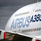 An Airbus A380 at the Farnborough International Air Show. Picture: Andrew Matthews/PA Wire