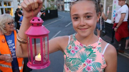 Sheringham Carnival finished with a torchlit procession through the town followed by a fireworks dis