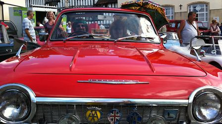 The Diss Heritage Transport Fayre. Chris and Pati Sheppard with their 1968 Ford Crayford Corsair, on