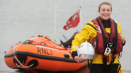 Lifeboat crew member Angel Eaglen, who is this year's Wells carnival queen. Picture: Ian Burt