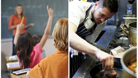 Part-time jobs in Norfolk: Various teaching and chef roles are currently available.