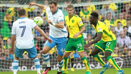 Norwich City were made to work hard for a Championship point against Sheffield Wednesday. Picture by