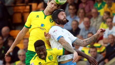 Timm Klose and Alex Tettey were stand outs for Norwich City. Picture by Sean Dempsey/Focus Images Lt