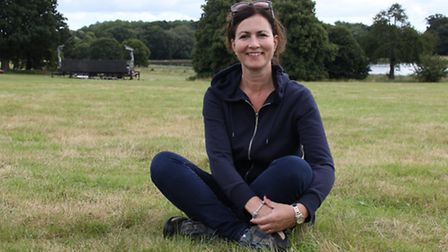 Lisa Ward takes time out at Blickling ahead of the proms weekend. Picture: ALLY MCGILVRAY