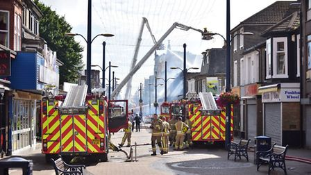 Fire at Regent Superbowl in Regent Road, Great Yarmouth. PICTURE: ANTONY KELLY