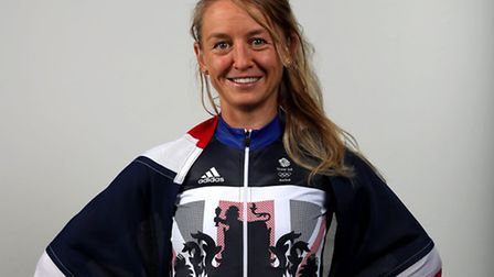 Greal Britain's Emma Pooley during a Team GB Track Cycling event at The Celtic Manor Resort, Newport