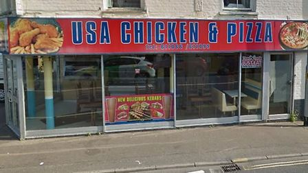 USA Fried Chicken & Pizza, 216 Queens Road. Photo: Google Street View