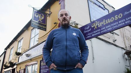 Camra pub protection officer Neil Bowers at the former Ketts Tavern which he is unhappy about being