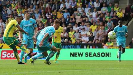 Martin Olsson has typified Norwich Citys attacking displays in recent weeks. Picture: Focus Images