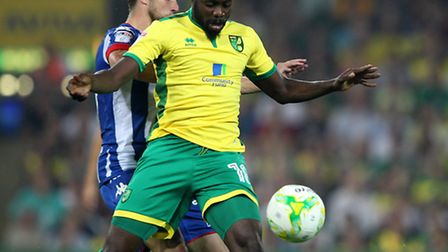 Youssouf Mulumbu, front, is an injury doubt for City's trip to the Magpies. Picture: PAUL CHESTERTON