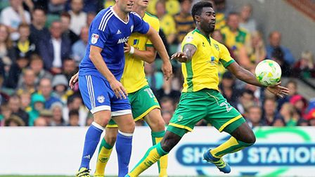 Will Alex Tettey be back on the ball for the Canaries tonight? Picture: PAUL CHESTERTON/FOCUS IMAGES