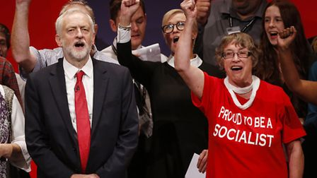 Labour Party leader Jeremy Corbyn after delivering his keynote speech on the final day of the Labour