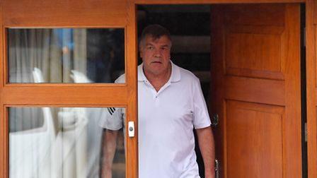 Sam Allardyce leaves his home in Bolton. PRESS ASSOCIATION Photo. Picture date: Wednesday September
